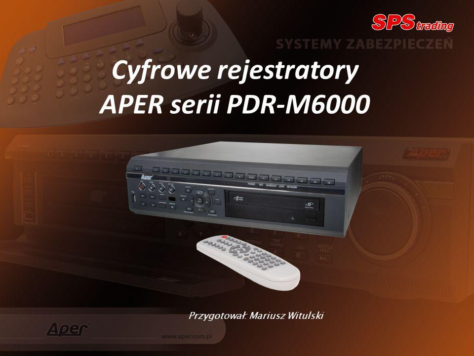 Cyfrowe rejestratory APER serii PDR-M6000