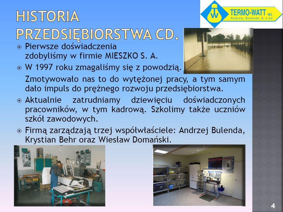 Historia Przedsiębiorstwa cd.