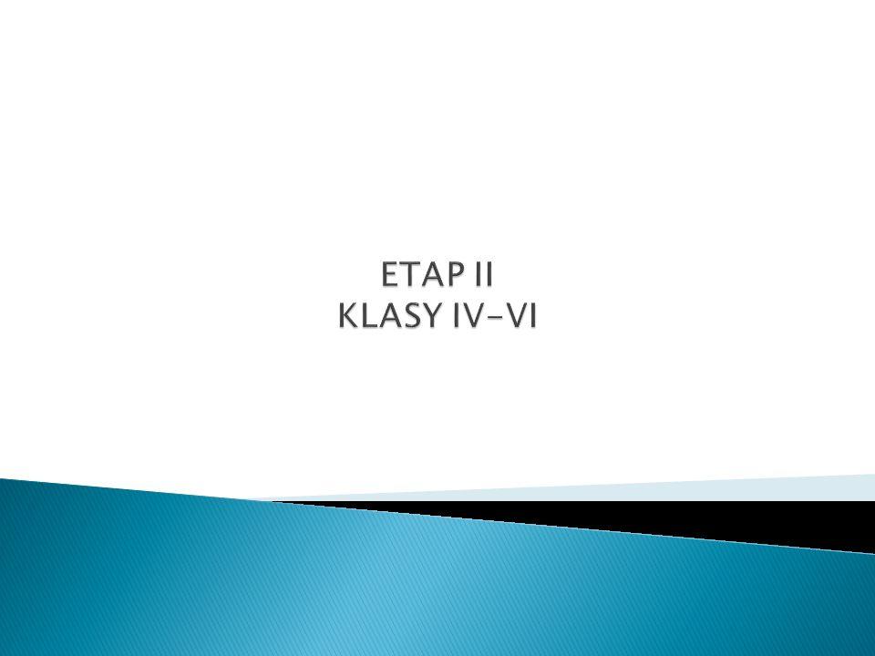 ETAP II KLASY IV-VI