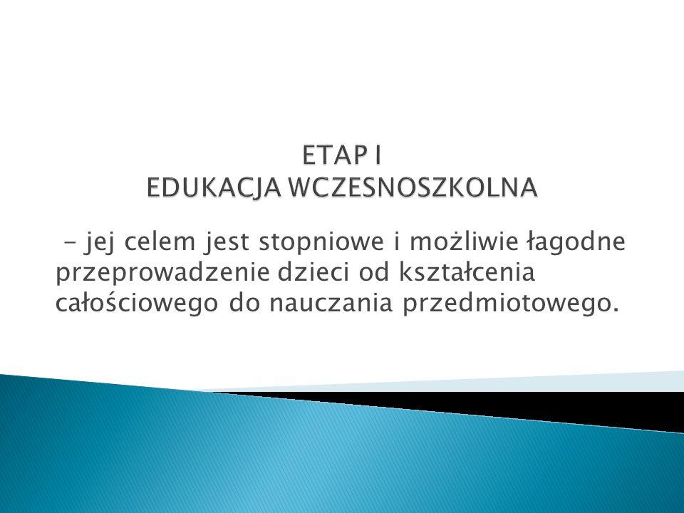 ETAP I EDUKACJA WCZESNOSZKOLNA