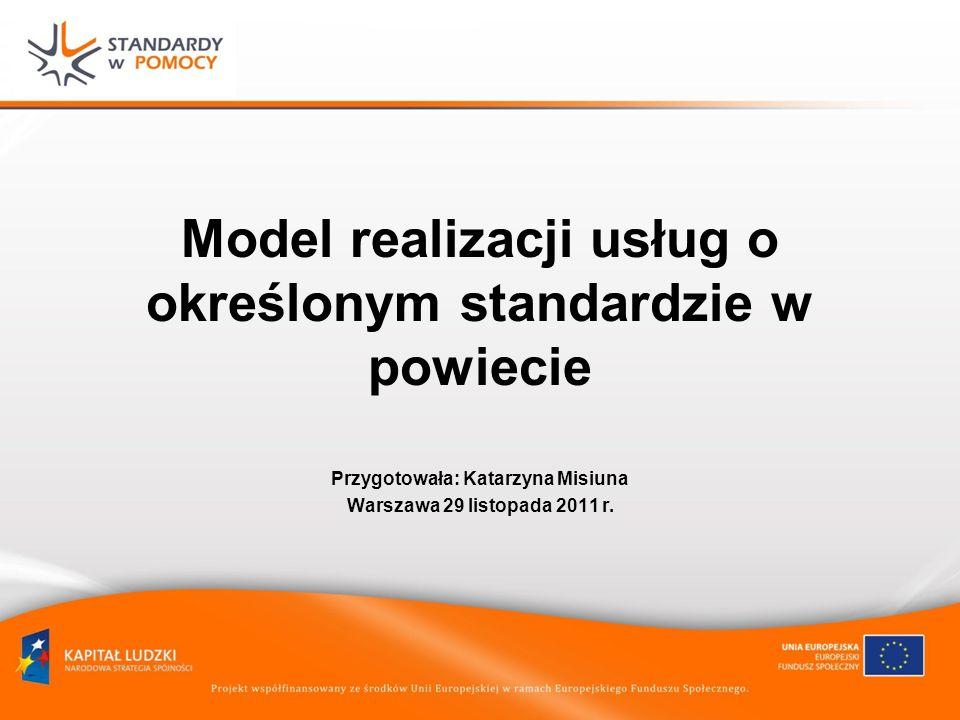 Model realizacji usług o określonym standardzie w powiecie