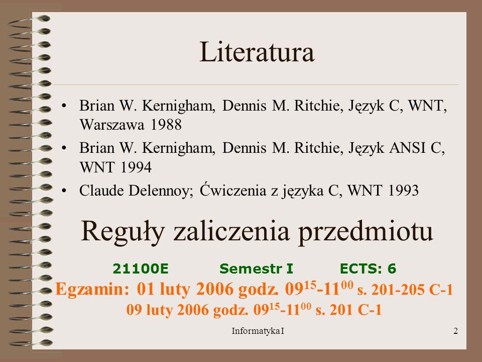 Egzamin: 01 luty 2006 godz. 0915-1100 s. 201-205 C-1