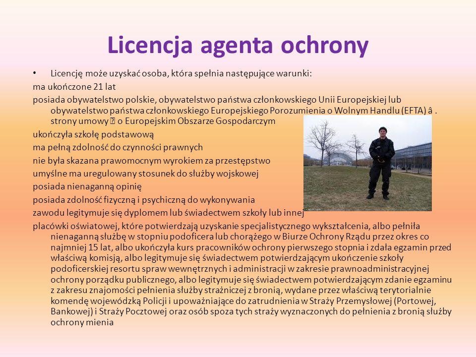 Licencja agenta ochrony