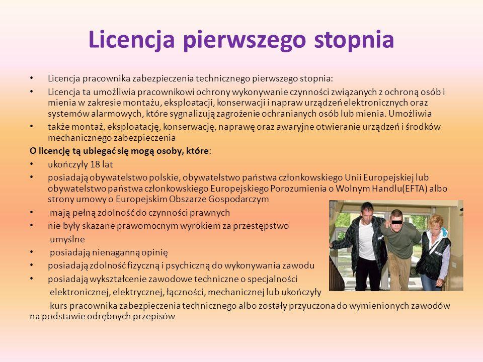 Licencja pierwszego stopnia