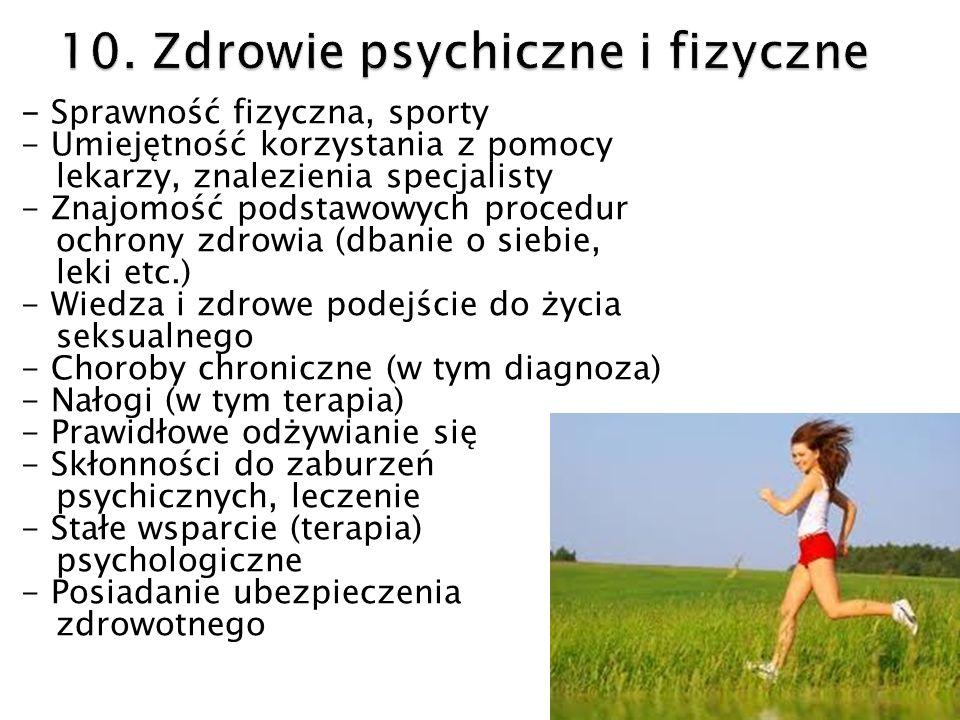 10. Zdrowie psychiczne i fizyczne