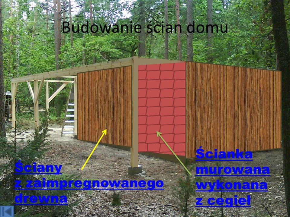 Budowanie ścian domu Ścianka murowana wykonana z cegieł Ściany