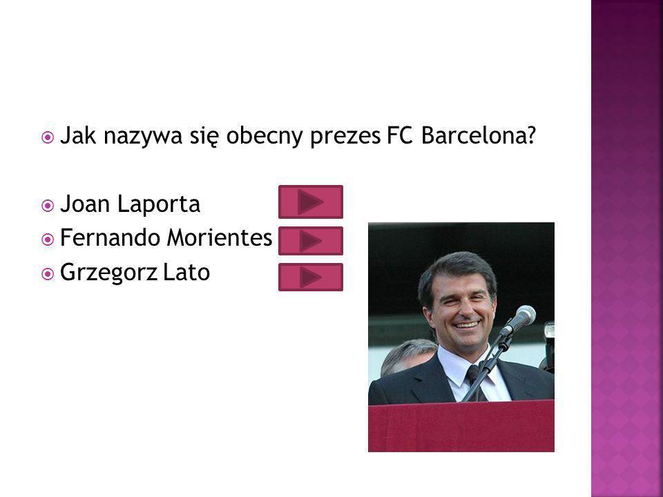 Jak nazywa się obecny prezes FC Barcelona