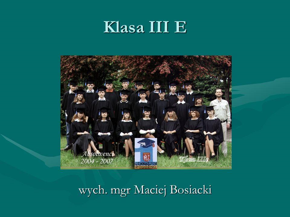 wych. mgr Maciej Bosiacki