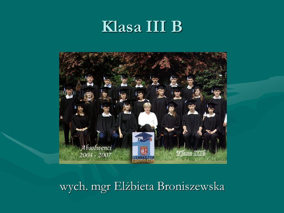 wych. mgr Elżbieta Broniszewska
