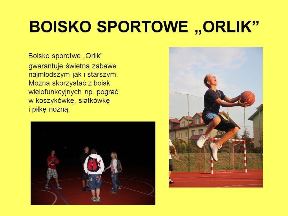 "BOISKO SPORTOWE ""ORLIK"