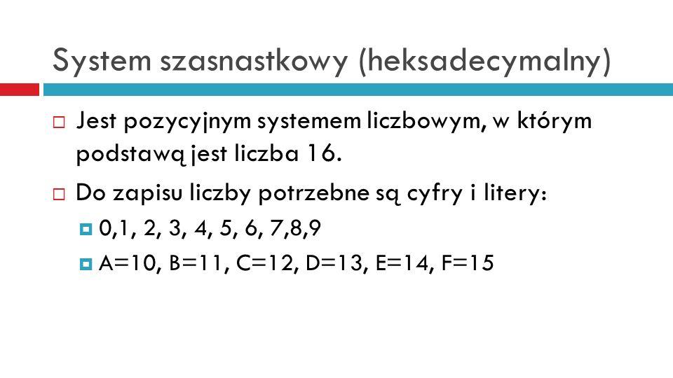 System szasnastkowy (heksadecymalny)
