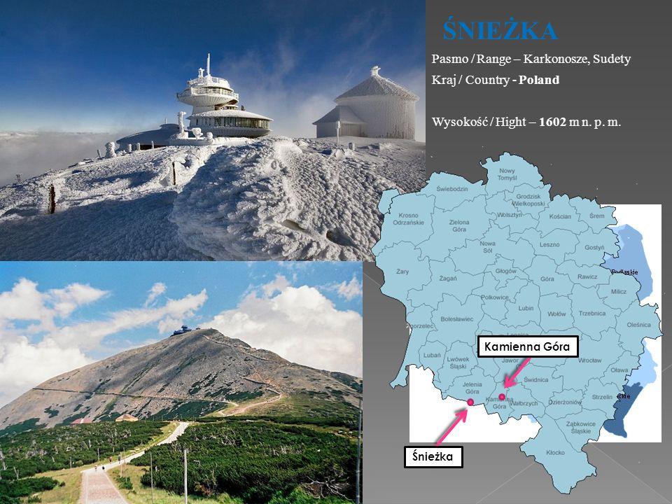 ŚNIEŻKA Pasmo / Range – Karkonosze, Sudety Kraj / Country - Poland