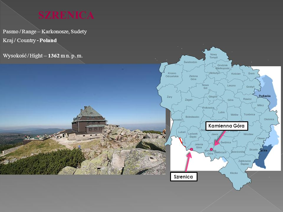 SZRENICA Pasmo / Range – Karkonosze, Sudety Kraj / Country - Poland
