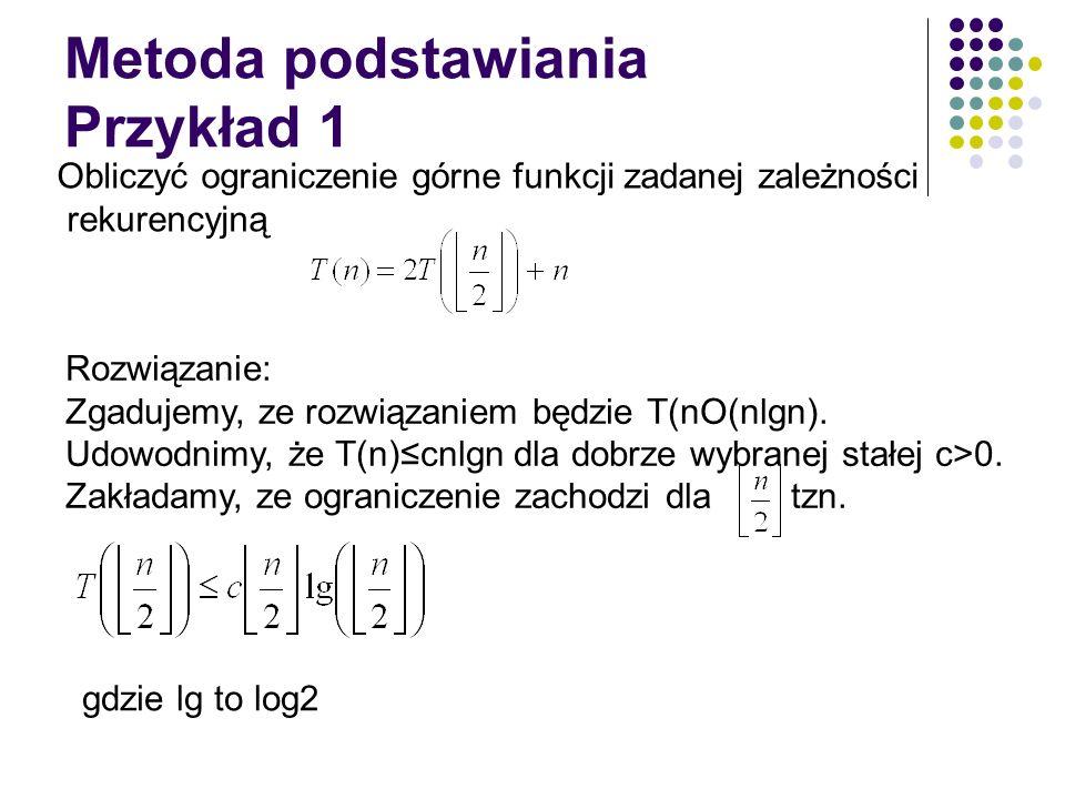 Metoda podstawiania Przykład 1