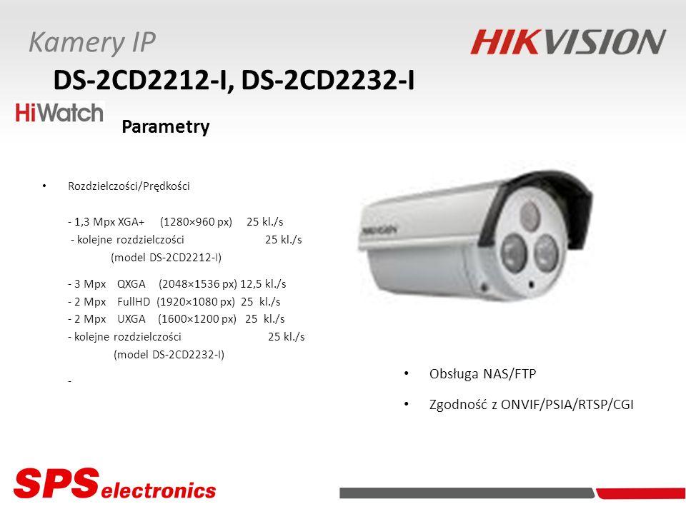 Kamery IP DS-2CD2212-I, DS-2CD2232-I Obsługa NAS/FTP