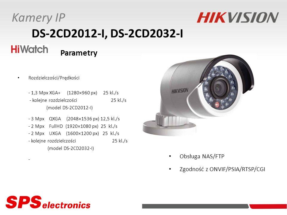Kamery IP DS-2CD2012-I, DS-2CD2032-I Obsługa NAS/FTP