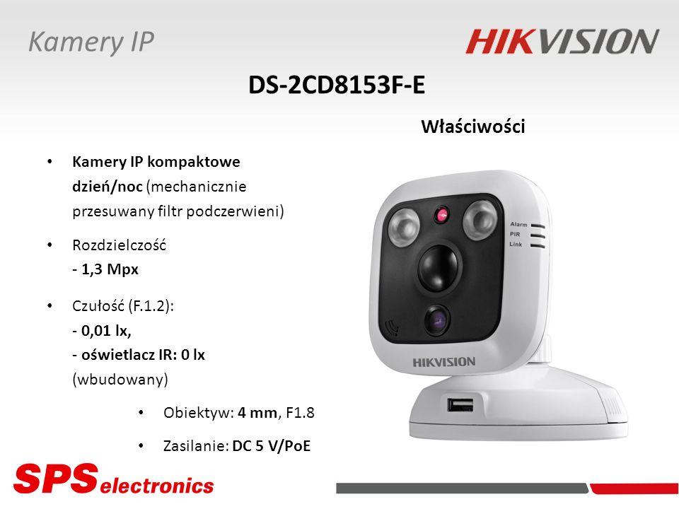 Kamery IP DS-2CD8153F-E Właściwości Kamery IP kompaktowe