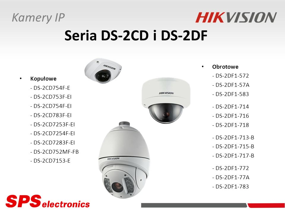 Seria DS-2CD i DS-2DF Kamery IP Obrotowe - DS-2DF1-572 - DS-2DF1-57A