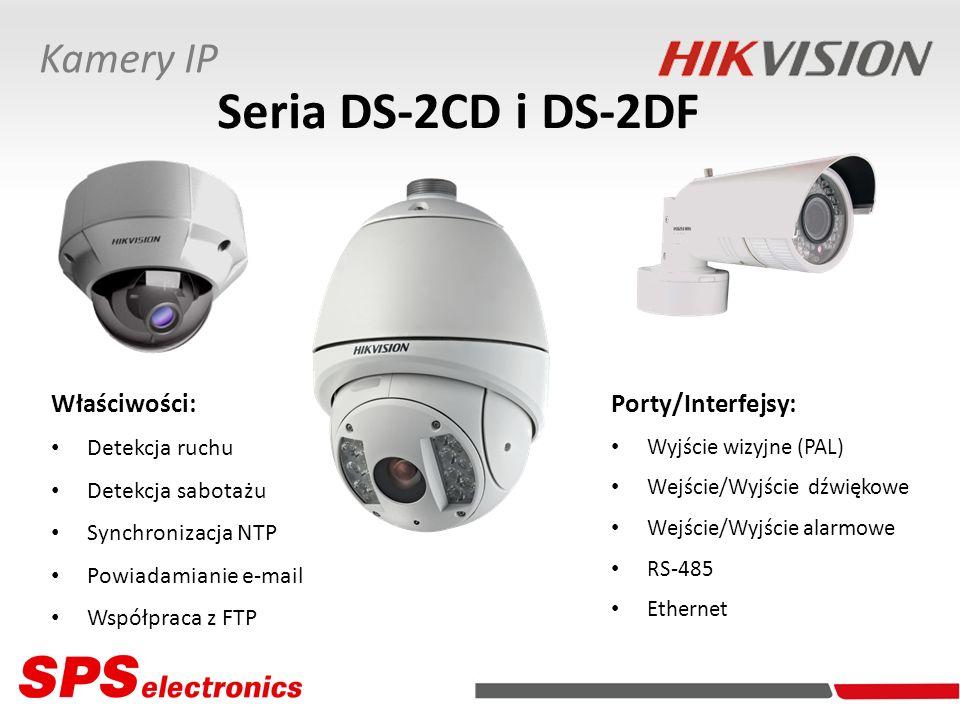 Seria DS-2CD i DS-2DF Kamery IP Właściwości: Porty/Interfejsy: