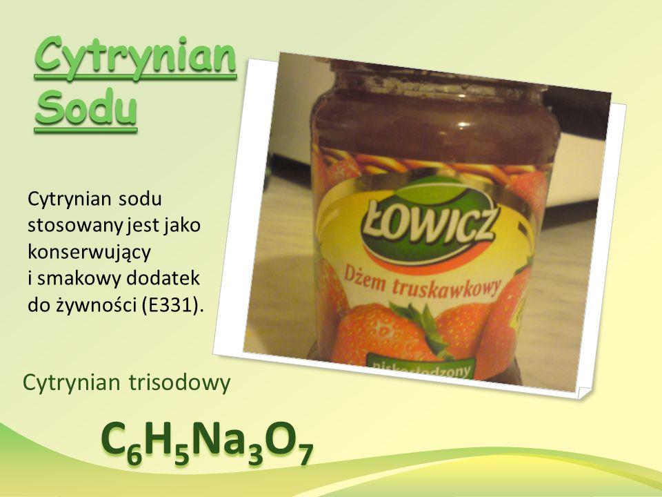 C6H5Na3O7 Cytrynian Sodu Cytrynian trisodowy