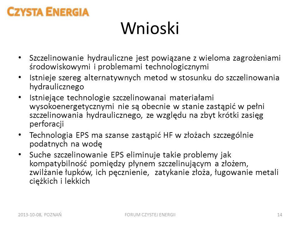 Wnioski Szczelinowanie hydrauliczne jest powiązane z wieloma zagrożeniami środowiskowymi i problemami technologicznymi.