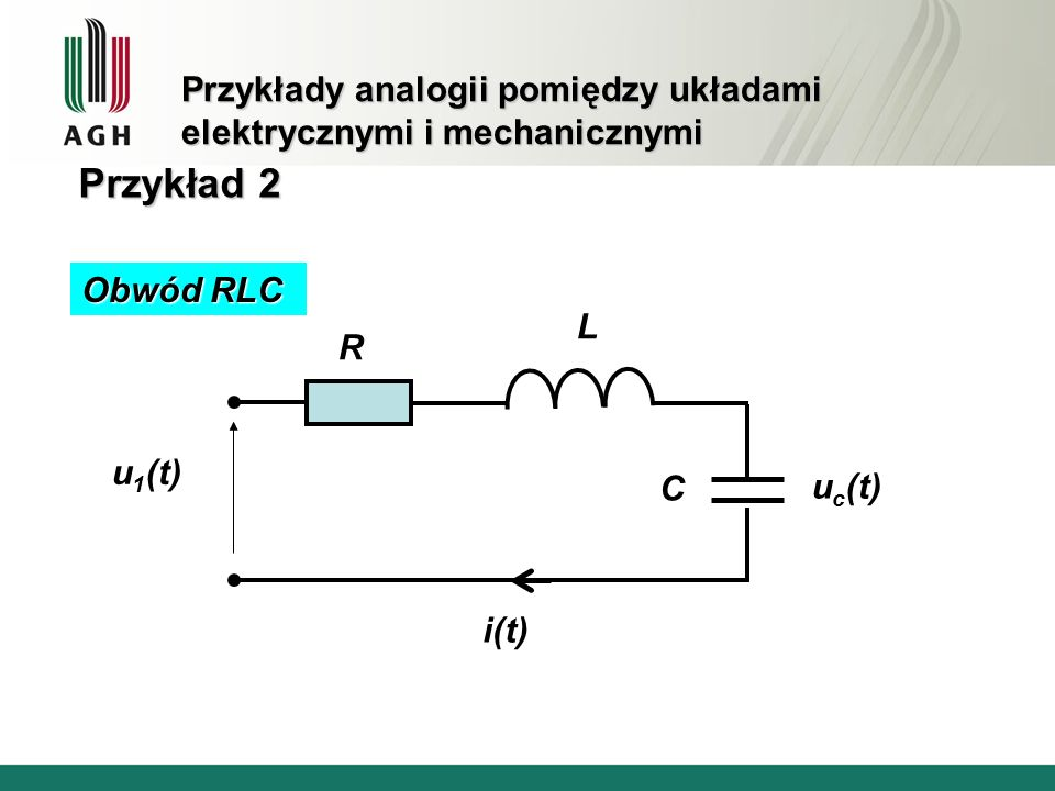 Przykłady analogii pomiędzy układami elektrycznymi i mechanicznymi