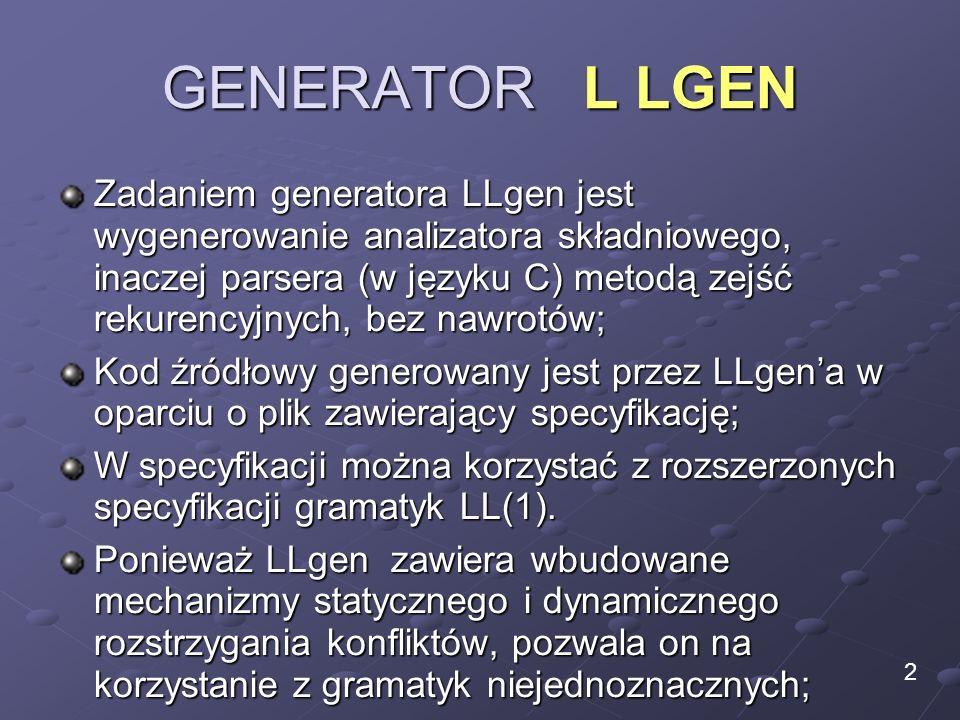 GENERATOR L LGEN