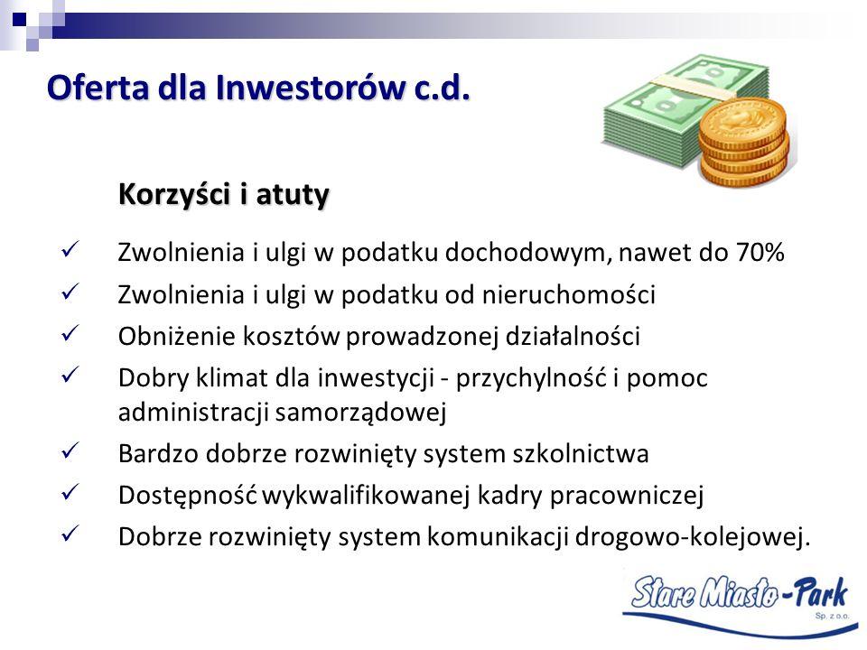 Oferta dla Inwestorów c.d.