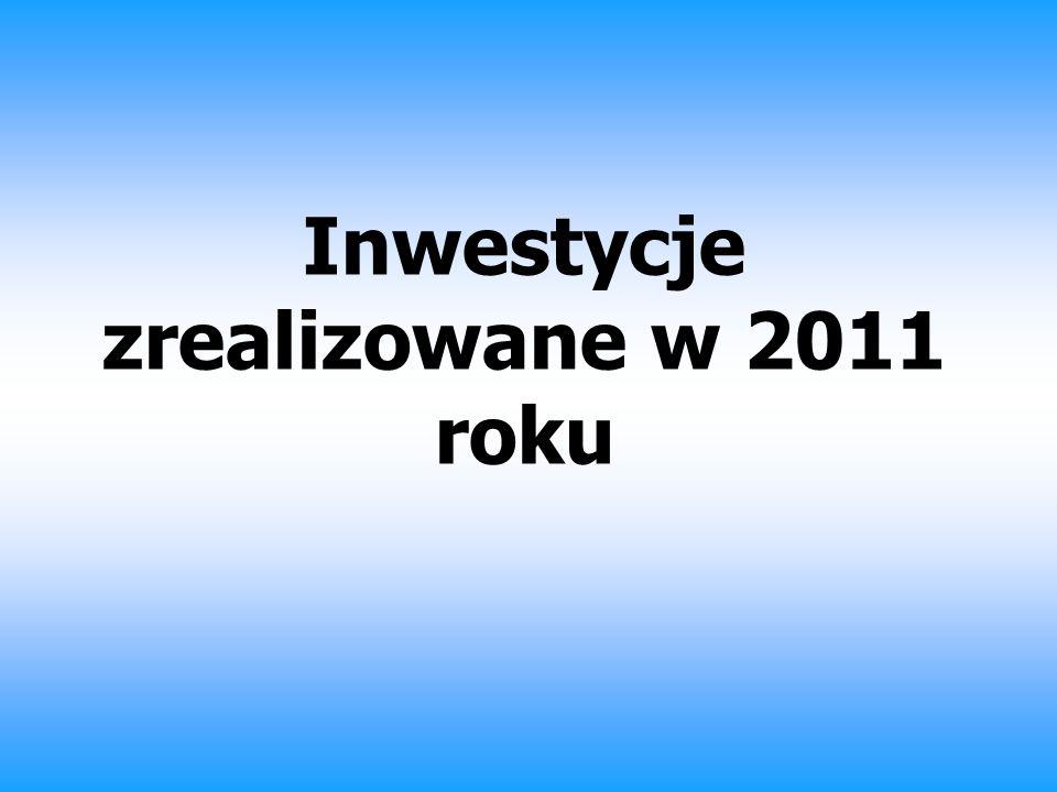 Inwestycje zrealizowane w 2011 roku