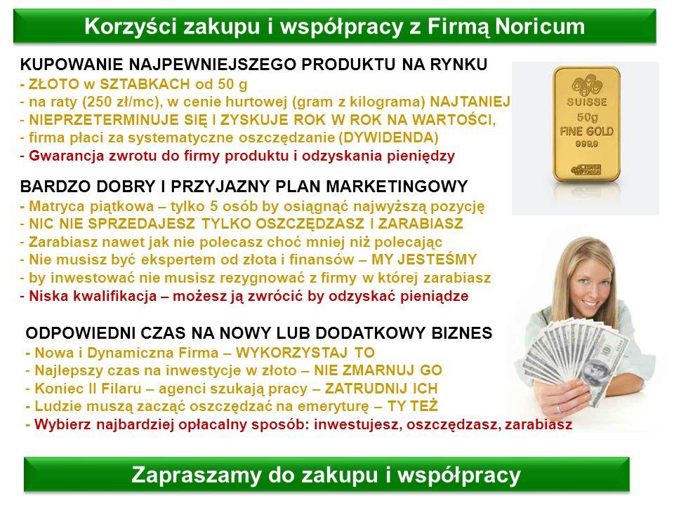 Korzyści zakupu i współpracy z Firmą Noricum
