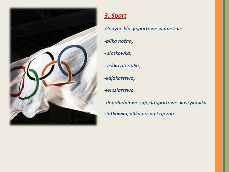 3. Sport Jedyne klasy sportowe w mieście: piłka nożna, siatkówka,