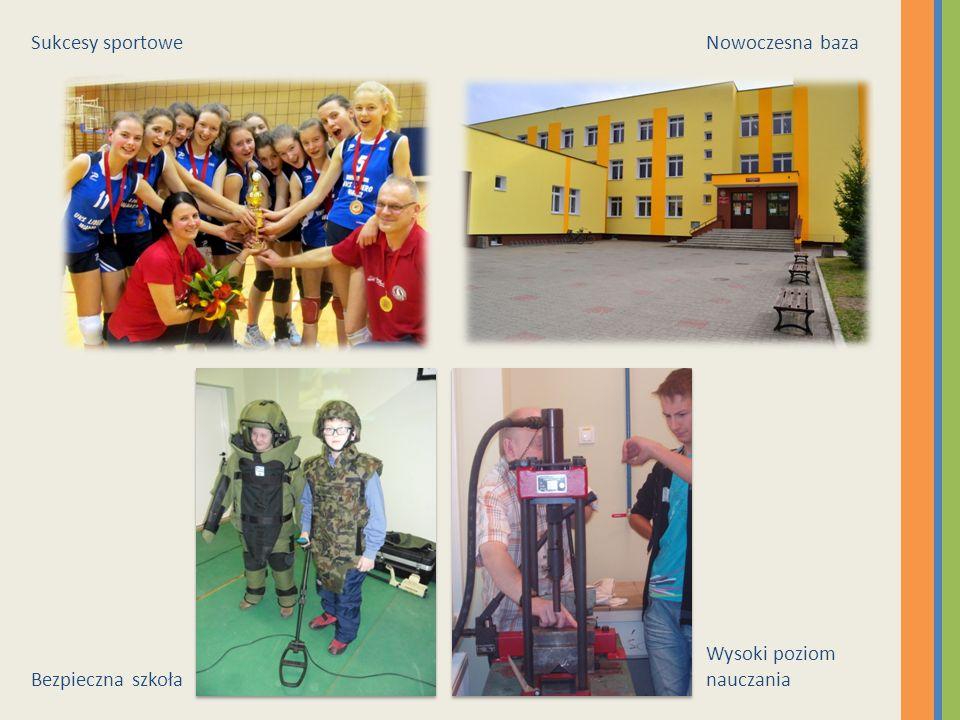 Sukcesy sportowe Nowoczesna baza Bezpieczna szkoła Wysoki poziom nauczania