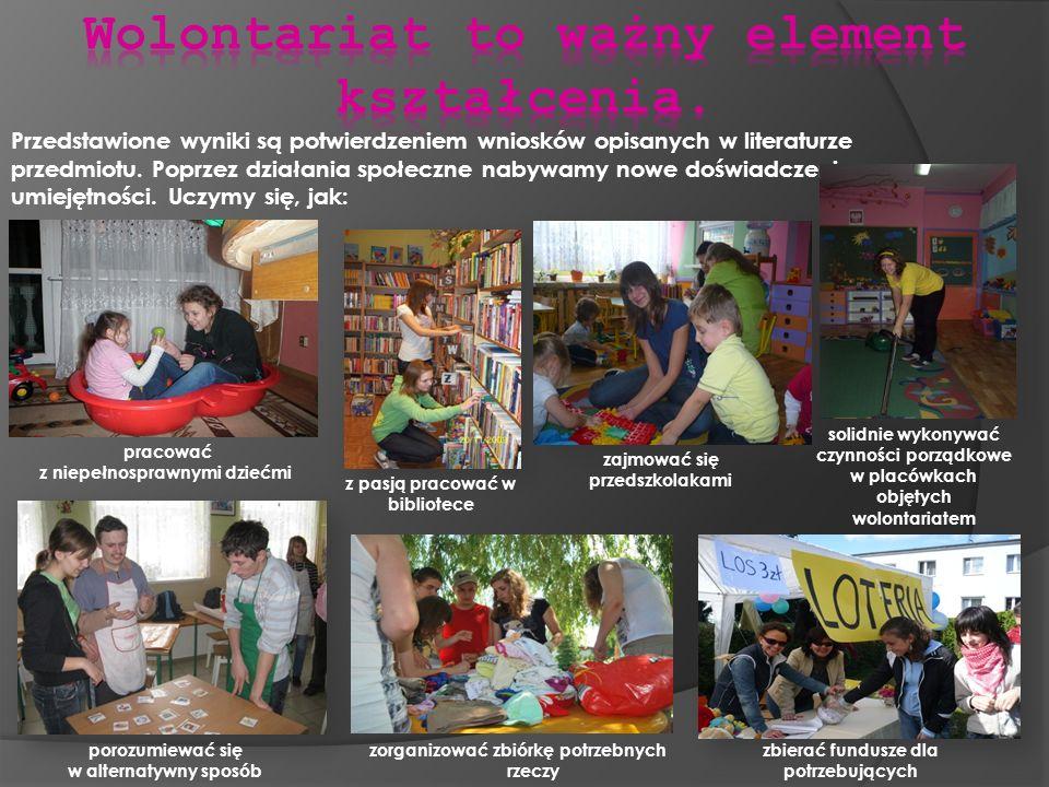Wolontariat to ważny element kształcenia.
