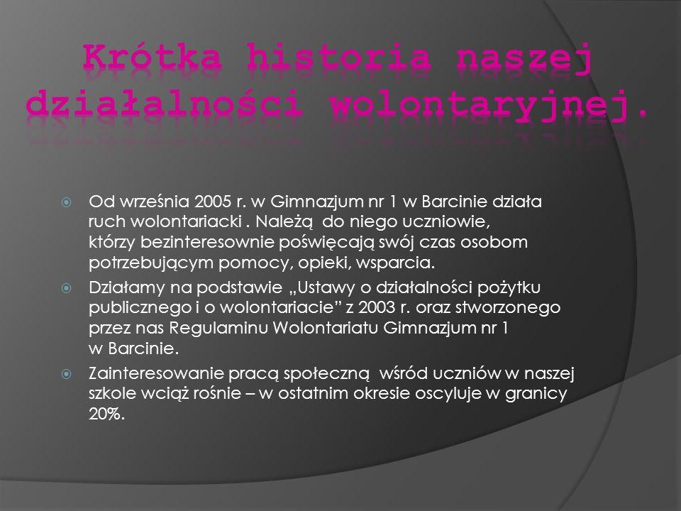 Krótka historia naszej działalności wolontaryjnej.