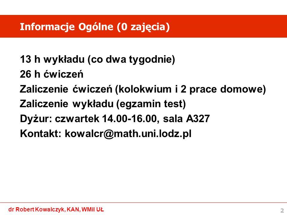 Informacje Ogólne (0 zajęcia)