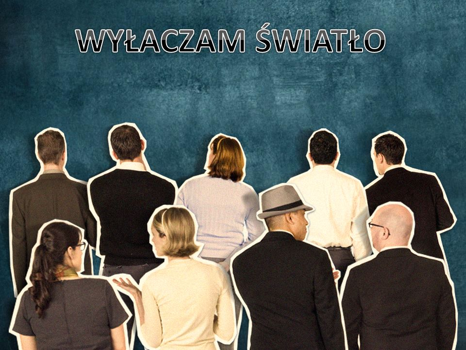 WYŁACZAM ŚWIATŁO Half of the people in your audience are verbal thinkers and the other half are visual.