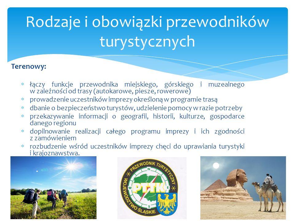 Rodzaje i obowiązki przewodników turystycznych