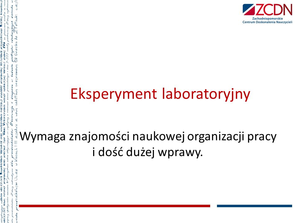 Eksperyment laboratoryjny