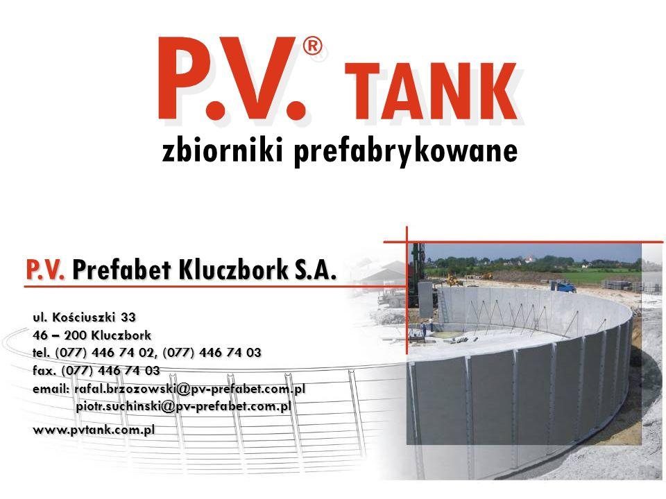 TANK zbiorniki prefabrykowane P.V. Prefabet Kluczbork S.A.