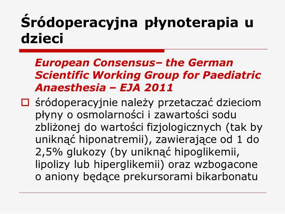 Śródoperacyjna płynoterapia u dzieci