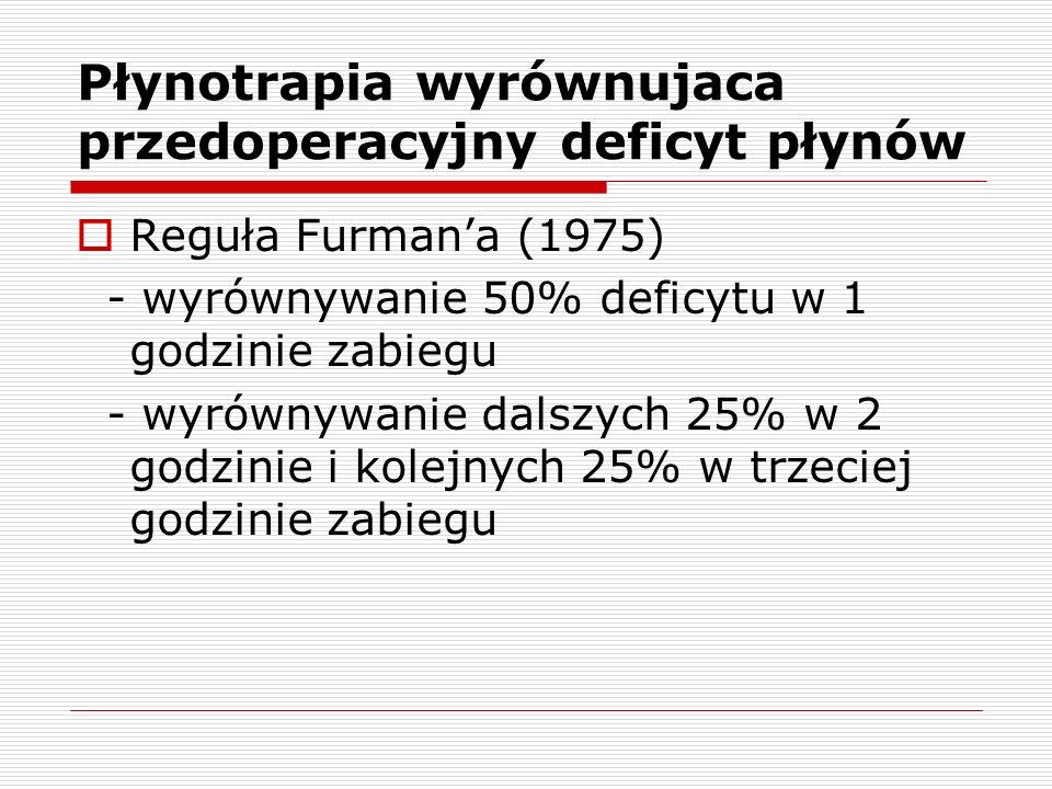 Płynotrapia wyrównujaca przedoperacyjny deficyt płynów