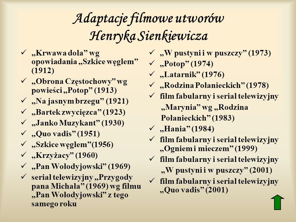 Adaptacje filmowe utworów Henryka Sienkiewicza