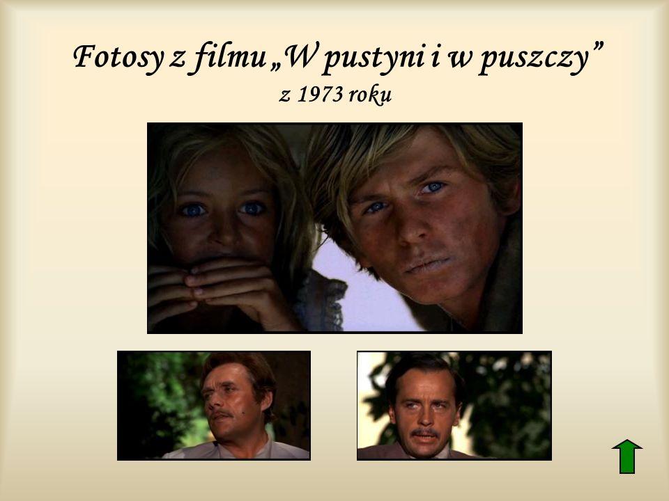 """Fotosy z filmu """"W pustyni i w puszczy z 1973 roku"""