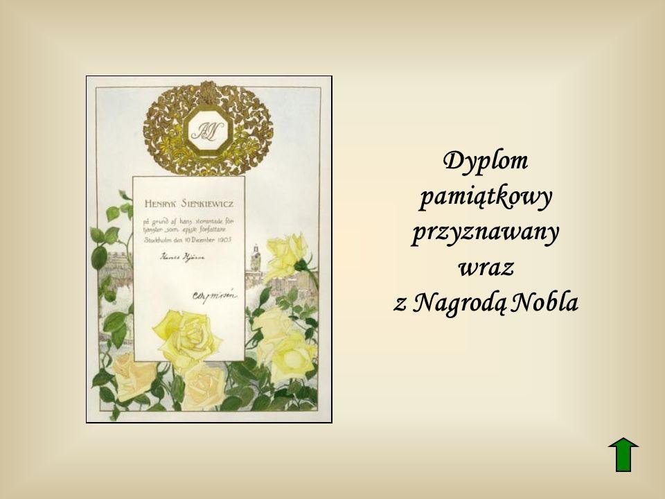 Dyplom pamiątkowy przyznawany