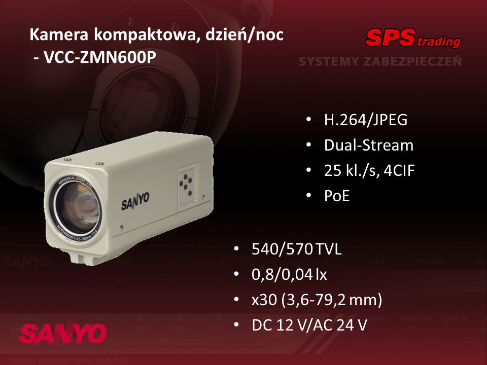 Kamera kompaktowa, dzień/noc - VCC-ZMN600P