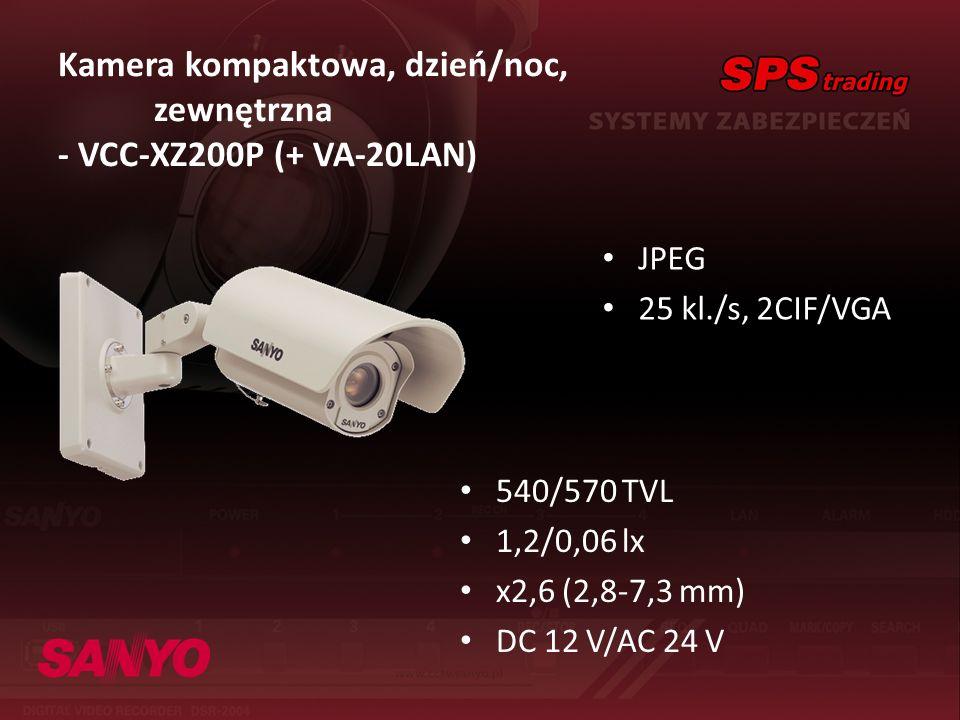 Kamera kompaktowa, dzień/noc, zewnętrzna - VCC-XZ200P (+ VA-20LAN)