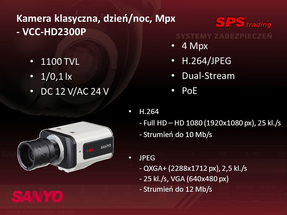Kamera klasyczna, dzień/noc, Mpx - VCC-HD2300P