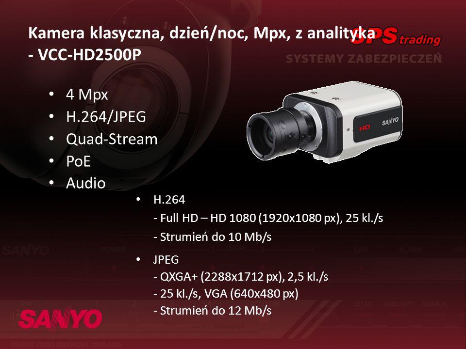 Kamera klasyczna, dzień/noc, Mpx, z analityka - VCC-HD2500P
