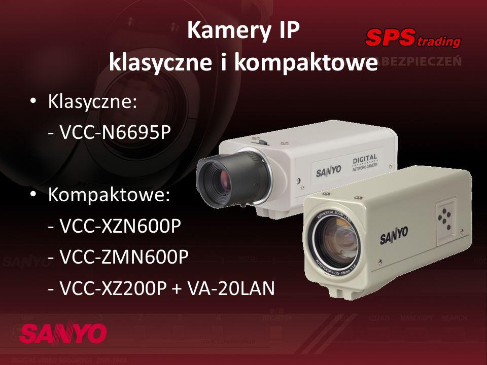 Kamery IP klasyczne i kompaktowe