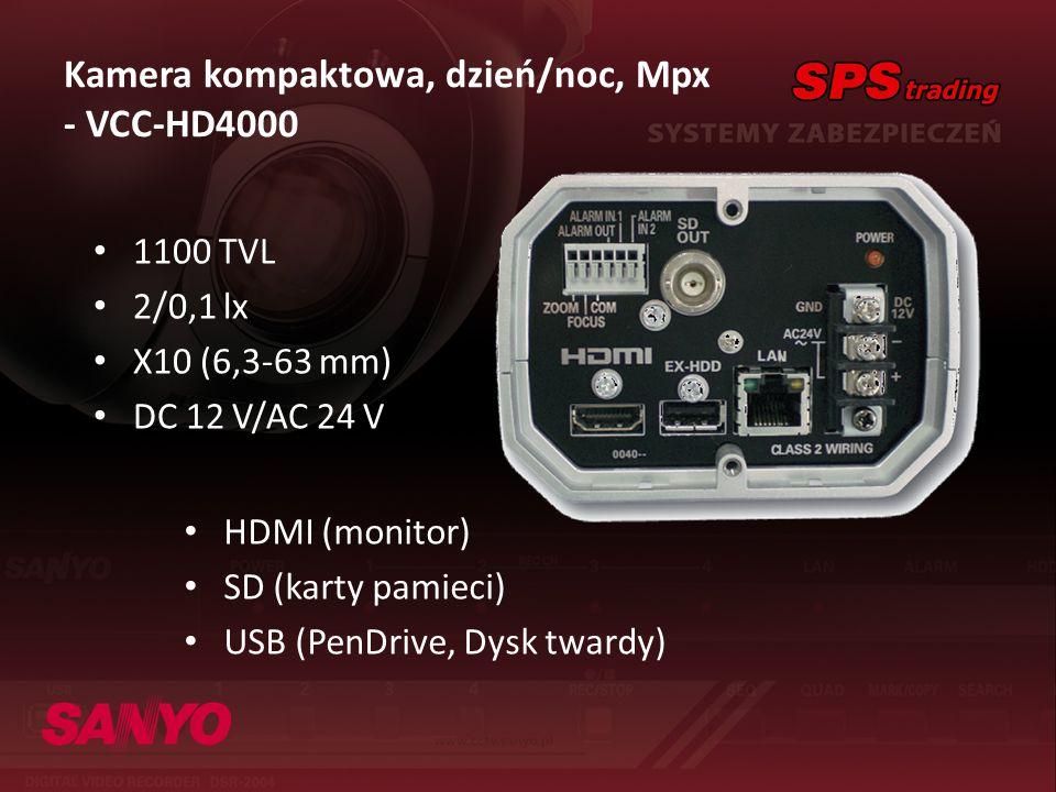 Kamera kompaktowa, dzień/noc, Mpx - VCC-HD4000